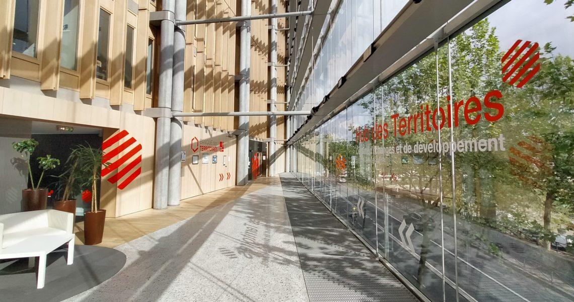 hall d'entrée Hub des territoires