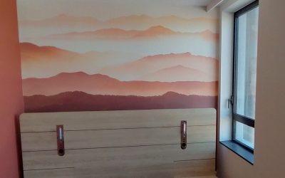 toile aux couleurs terracota