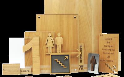 gamme signalétique bois